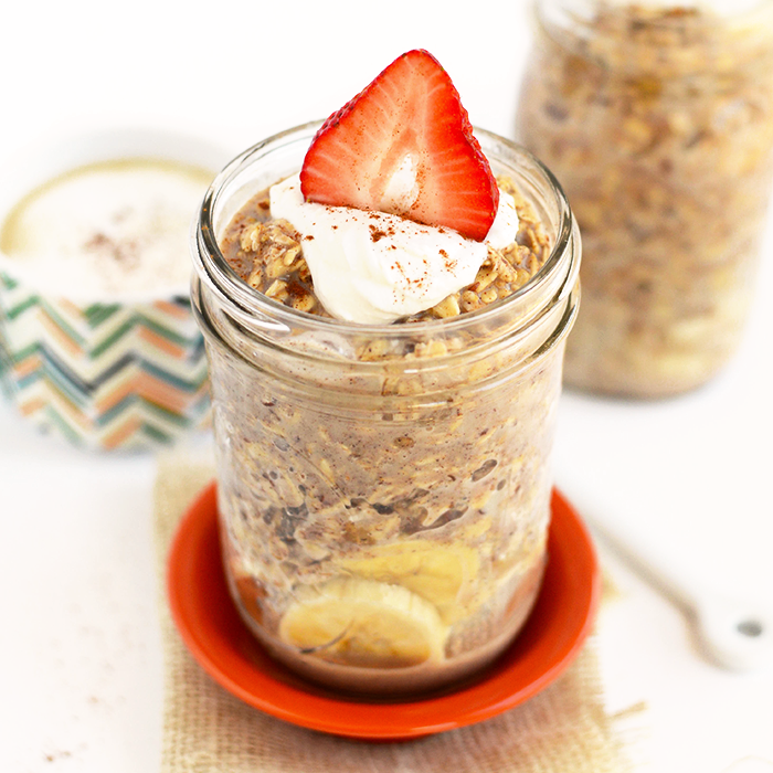 Maple French Toast Overnight Oatmeal