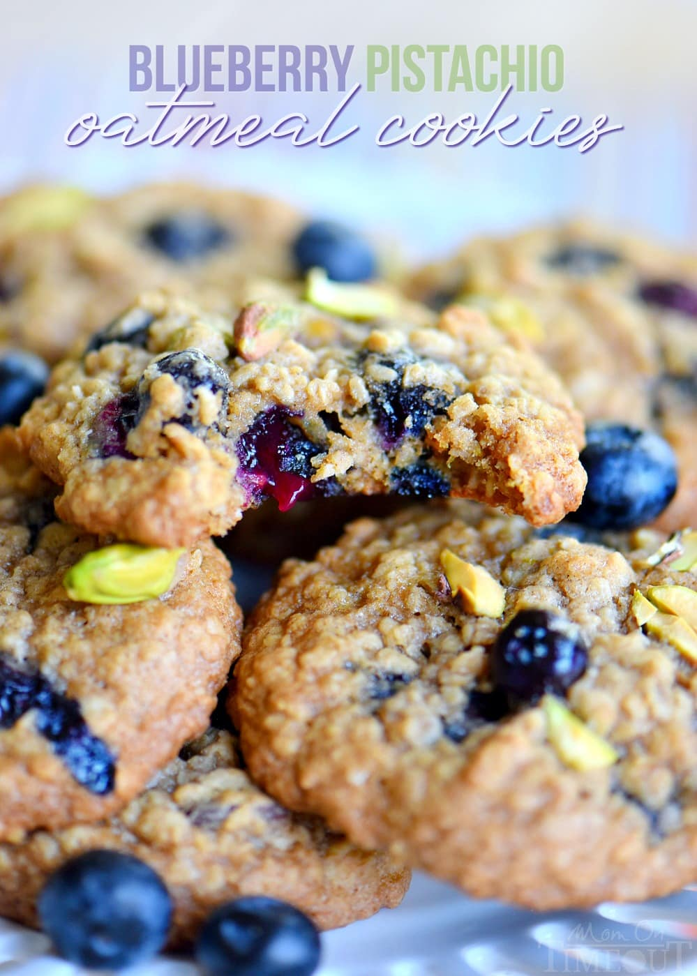 Blueberry Pistachio Oatmeal Cookies