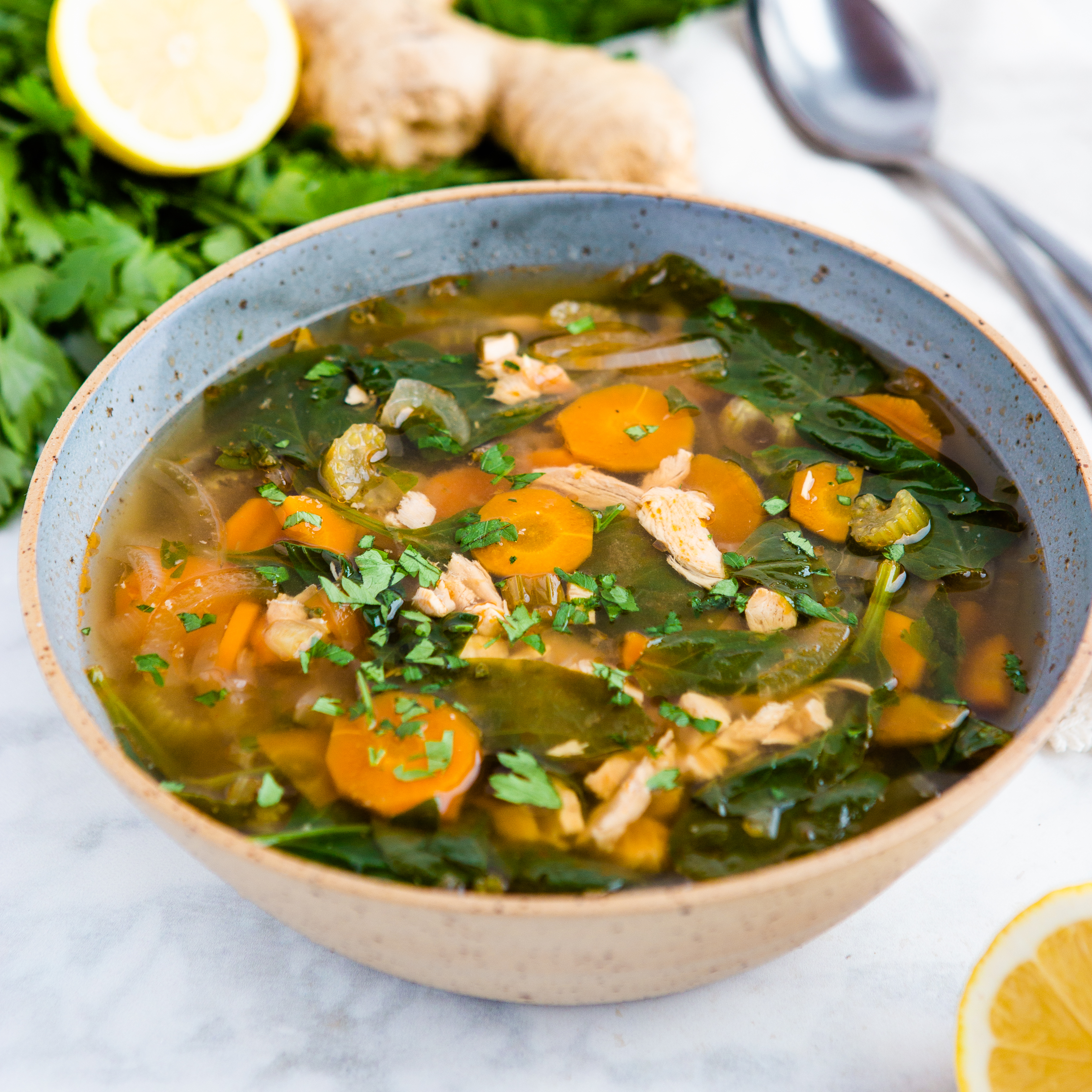 Crock Pot Lemon Ginger Chicken Soup