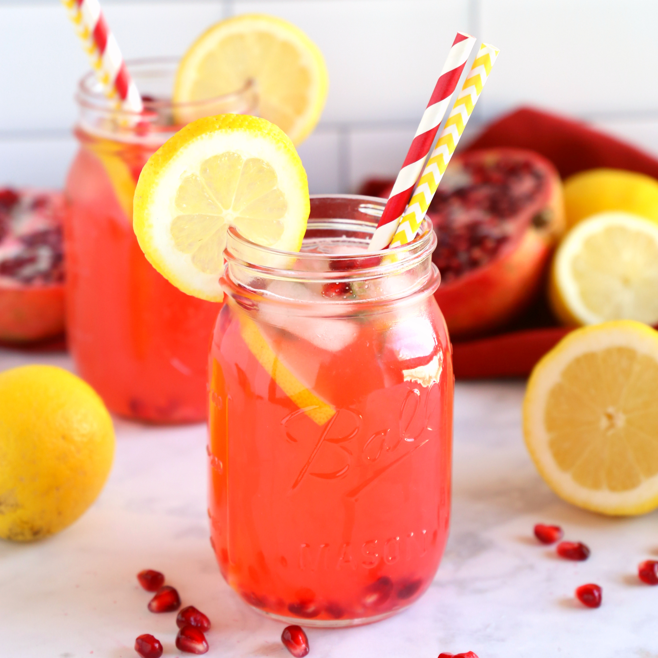 Healthy Pomegranate Lemonade
