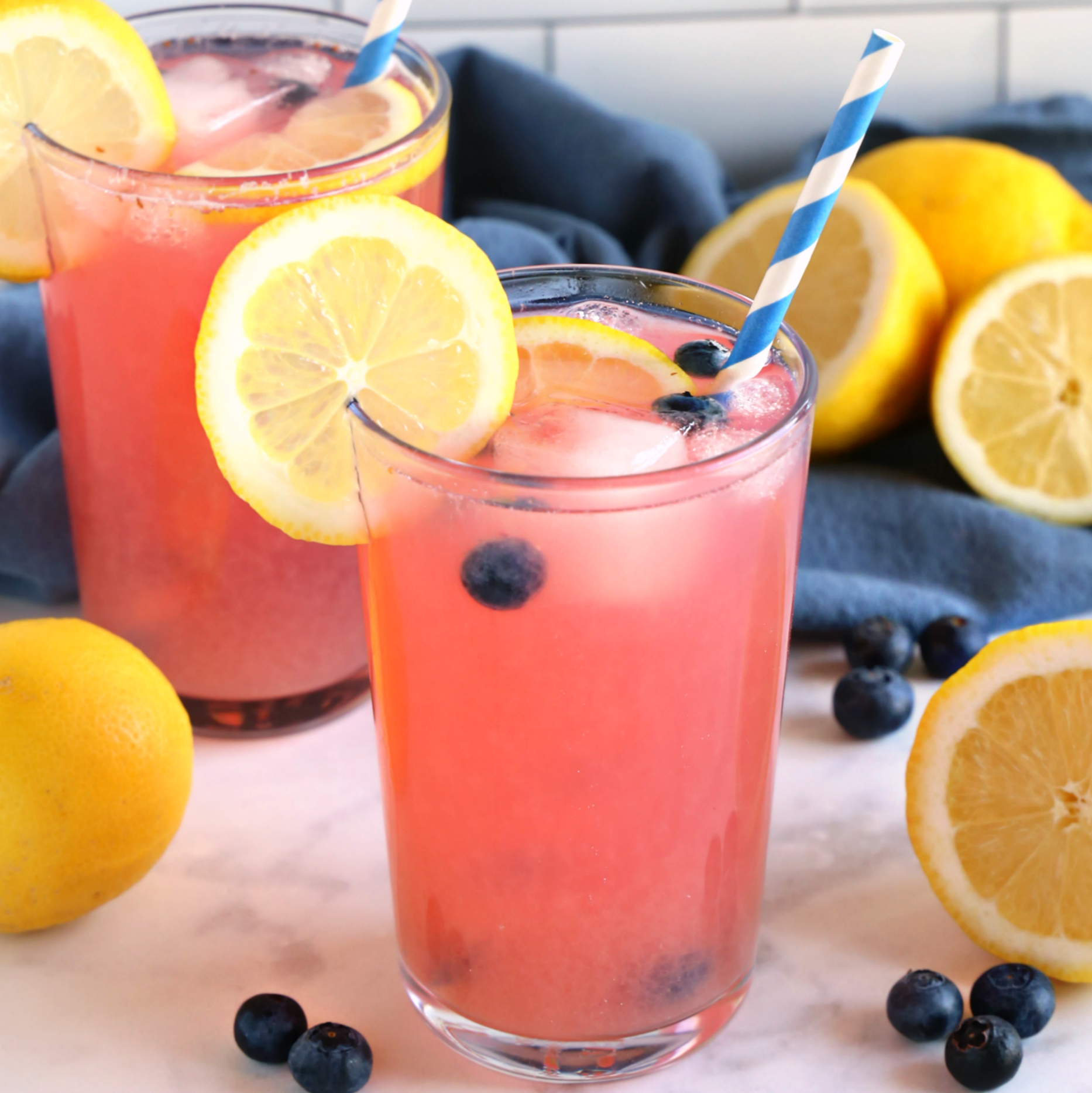 Healthy Blueberry Lemonade