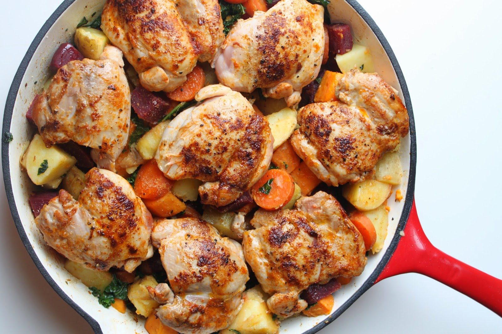 Paprika Chicken with Roasted Root Vegetables