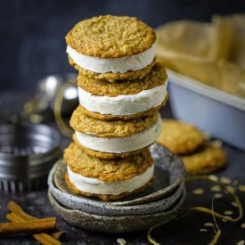 Spiced Oatmeal Cookie Ice Cream Sandwiches