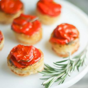 Mini Carrot Tarte Tatins