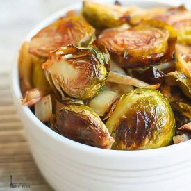 Roasted Brussels Sprouts, Fennel and Leeks