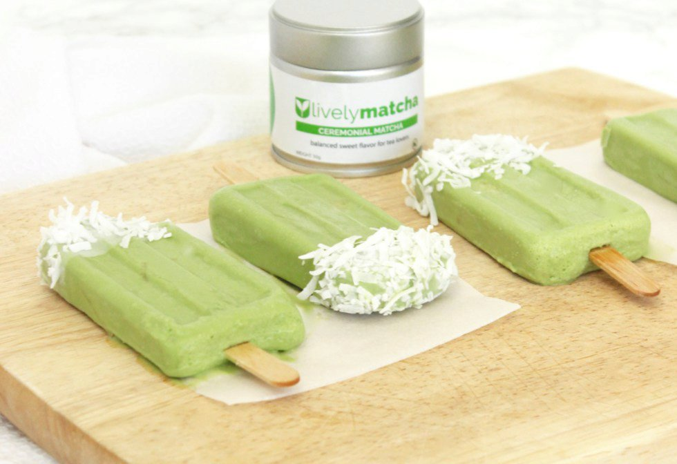 Topical Matcha Popsicles