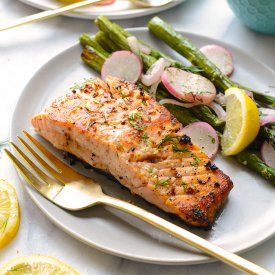 Lemon Butter Seared Salmon