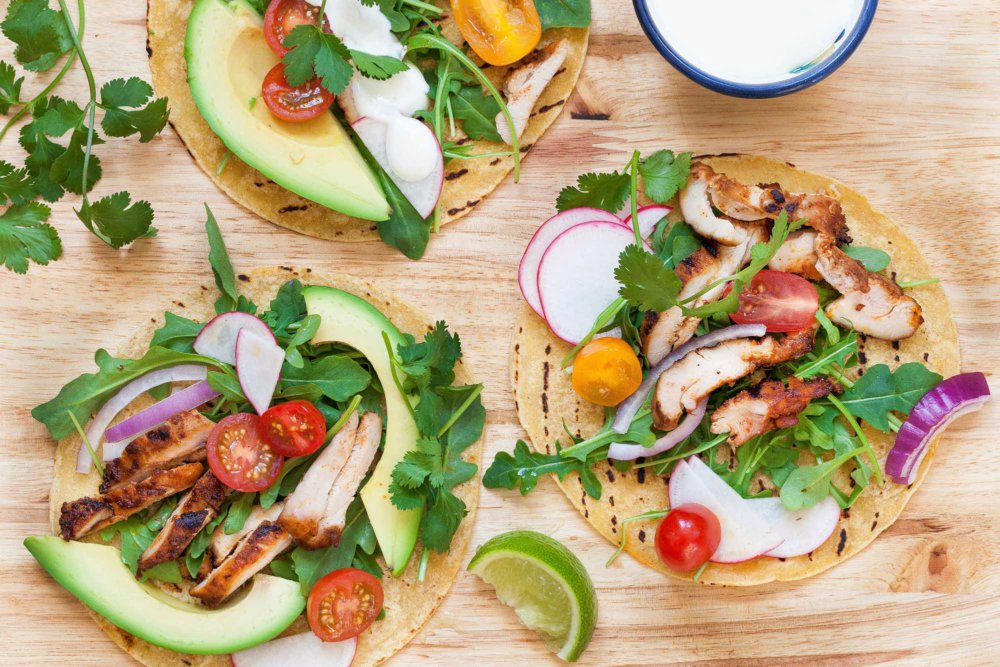 Spicy Grilled Chicken Tacos
