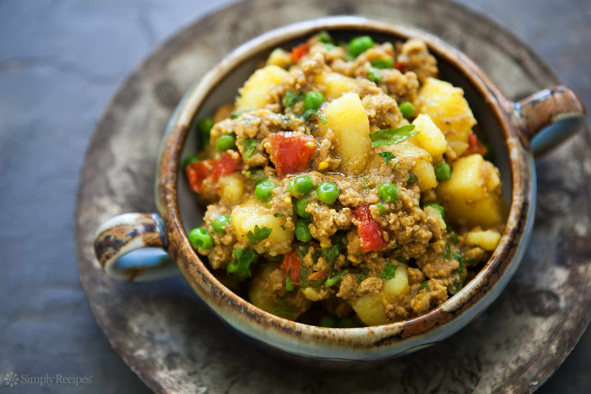 Curried Ground Turkey with Potatoes